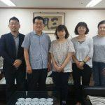 釜山韓日文化交流協会訪問・ハ事務局長と。