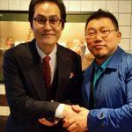 俳優キム・ソンギュンさんと。