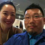 女優オム・ジウォンさんと。